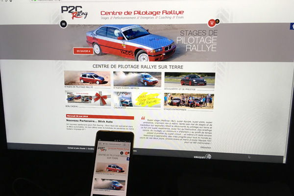 P2C Racing en version mobile, votre centre de pilotage rallye mobile friendly